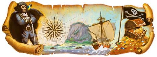 Robert Louis Stevenson Google logo