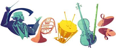 Google Logo: Sergiu Celibidache's 100th birthday, Romanian conductor