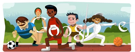 Google's London 2012 Olympics doodle