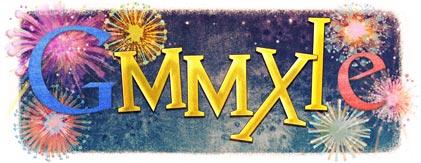 google logo de anul nou