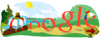 Solstitiul de vara - Google Logo